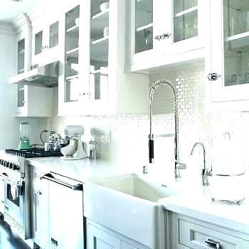 classy white cabinet with glass doors