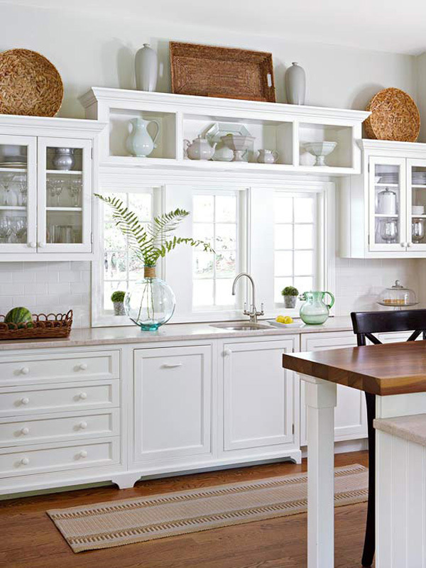 country top of kitchen cabinet decor pinterest