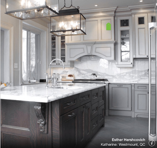 delicious greige kitchen cabinets