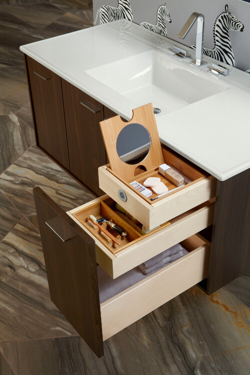 unique bathroom cabinet with drawers