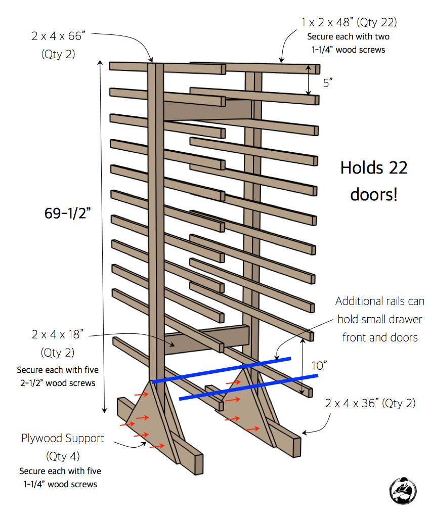 amazing cabinet door drying rack plans
