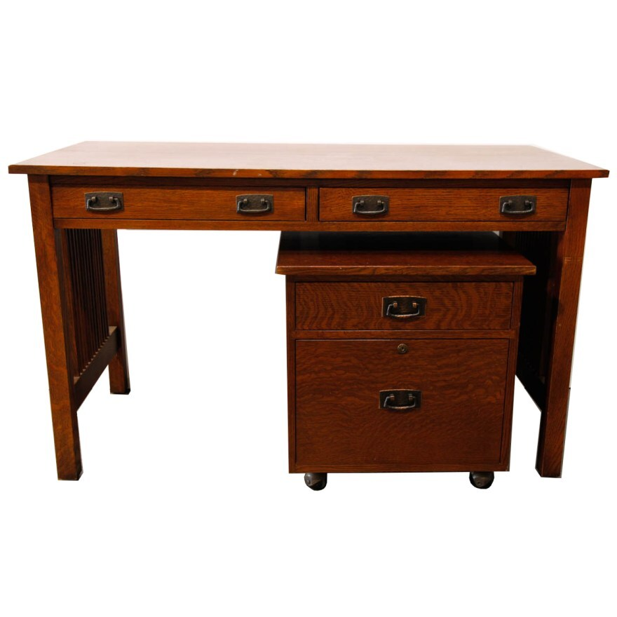 beautiful concept desk with filing cabinet