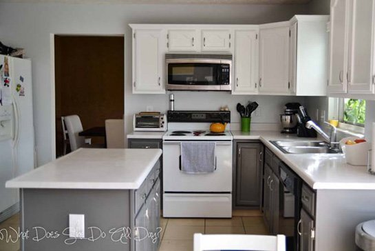 ceiling white painted cabinets