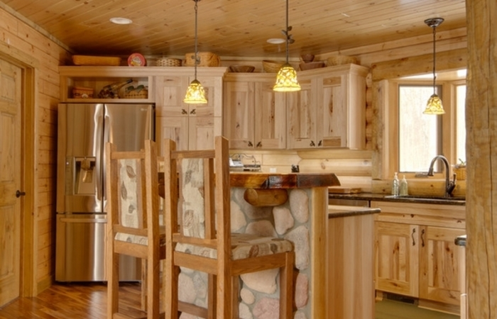 classy kitchen colors with hickory cabinets