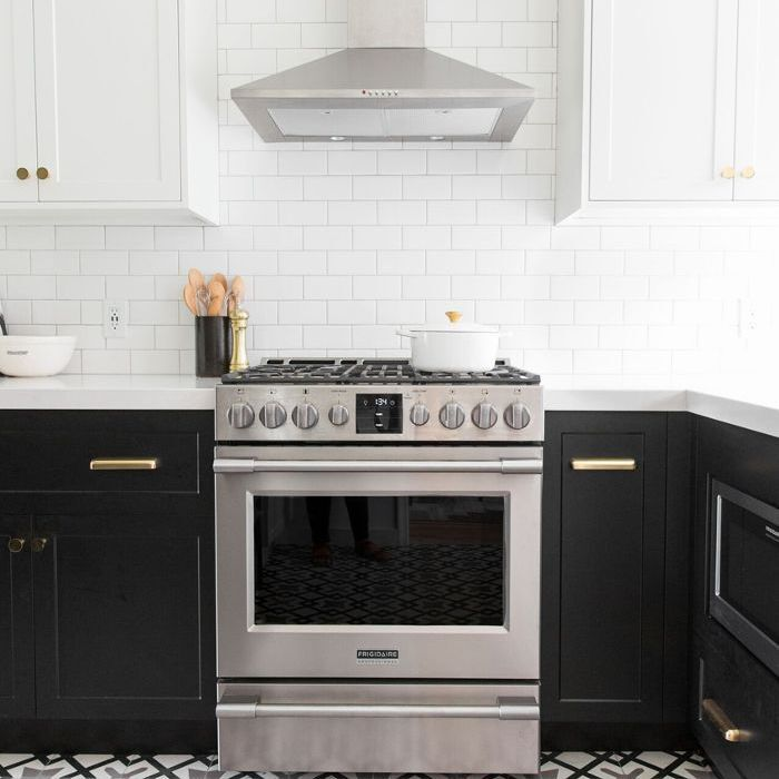 glamorous two toned cabinets