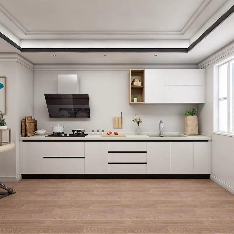 good looking white gloss acrylic kitchen cabinets