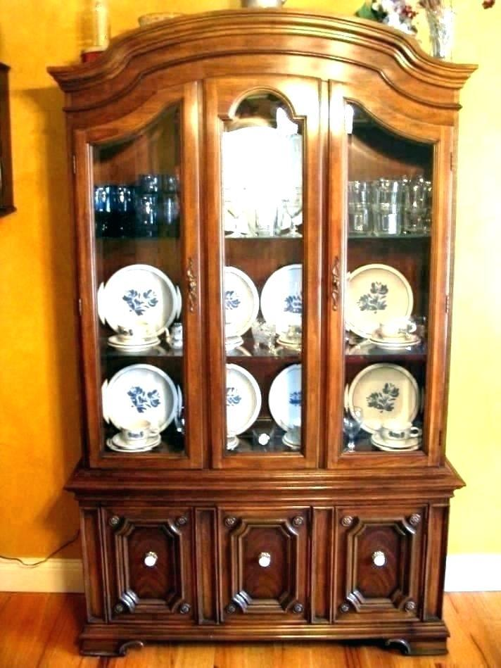 hot how to decorate china cabinet