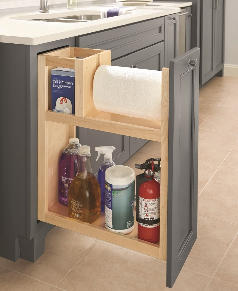 large space cleaning supply cabinet