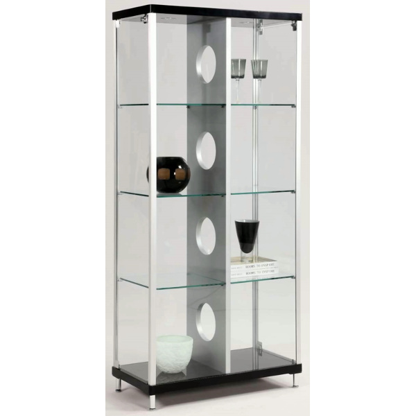 out of the ordinary white wood curio cabinets