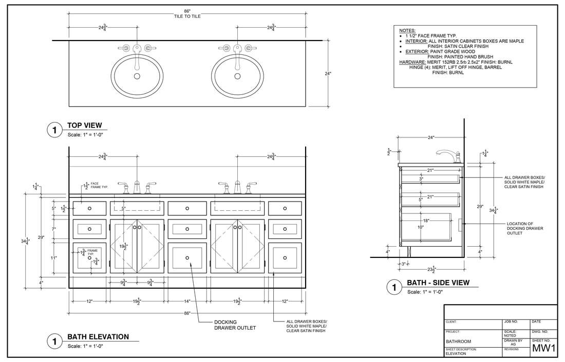 pictures cabinet shop drawings