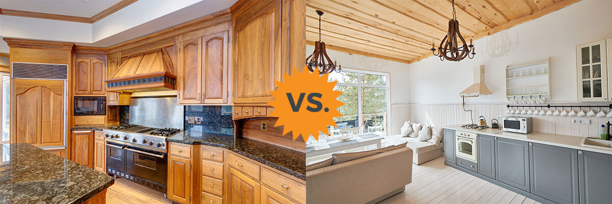 affordable stain kitchen cabinets