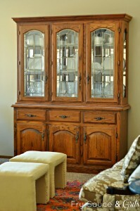 comfortable china cabinet makeover