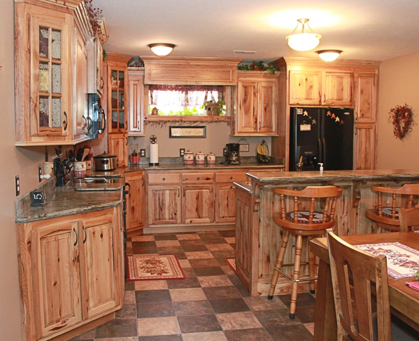 Fancy Hickory Kitchen Cabinets Pictures - rssmix.info