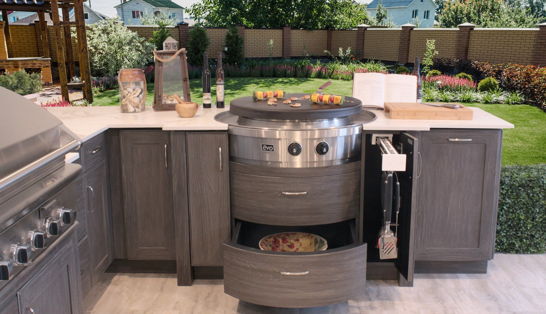 hot outdoor wood cabinets storage