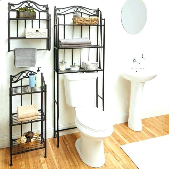 large space over the toilet storage