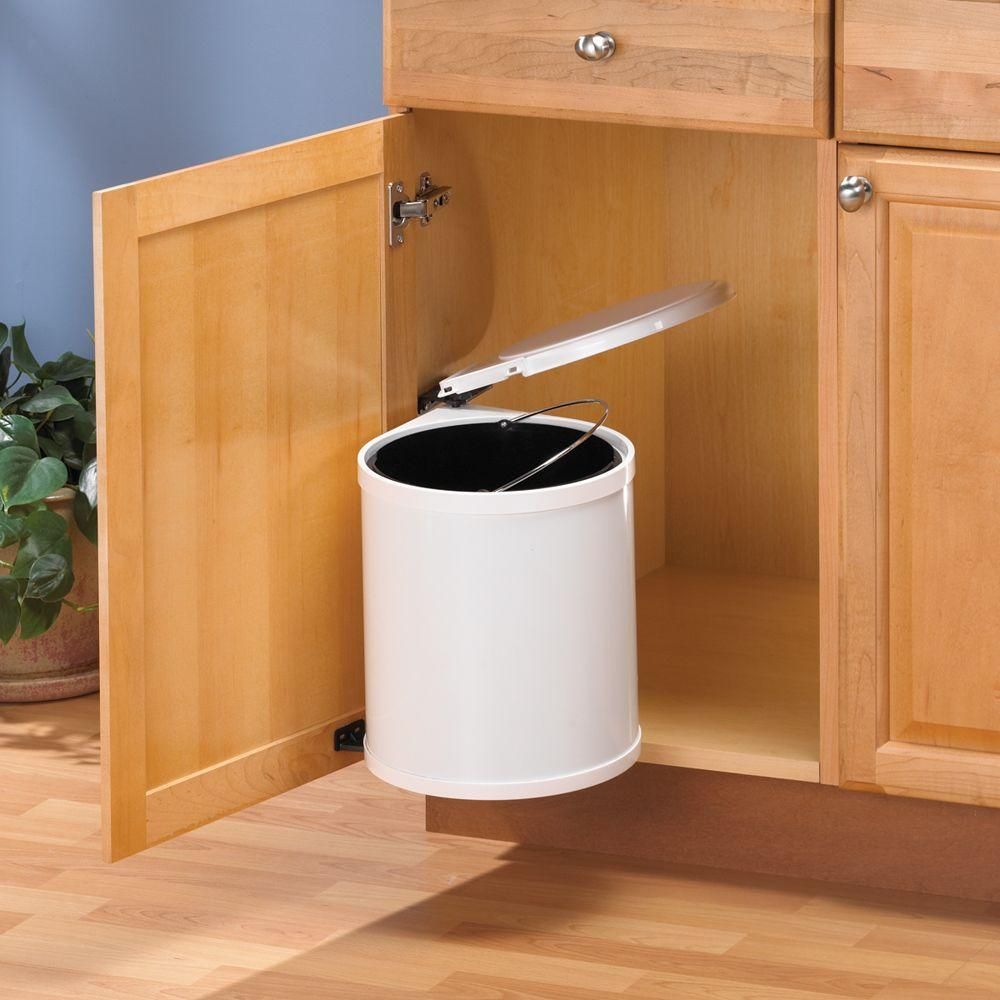 layout cabinet door mounted trash can