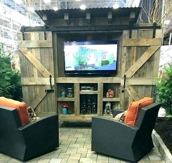low-cost outdoor tv cabinet plans