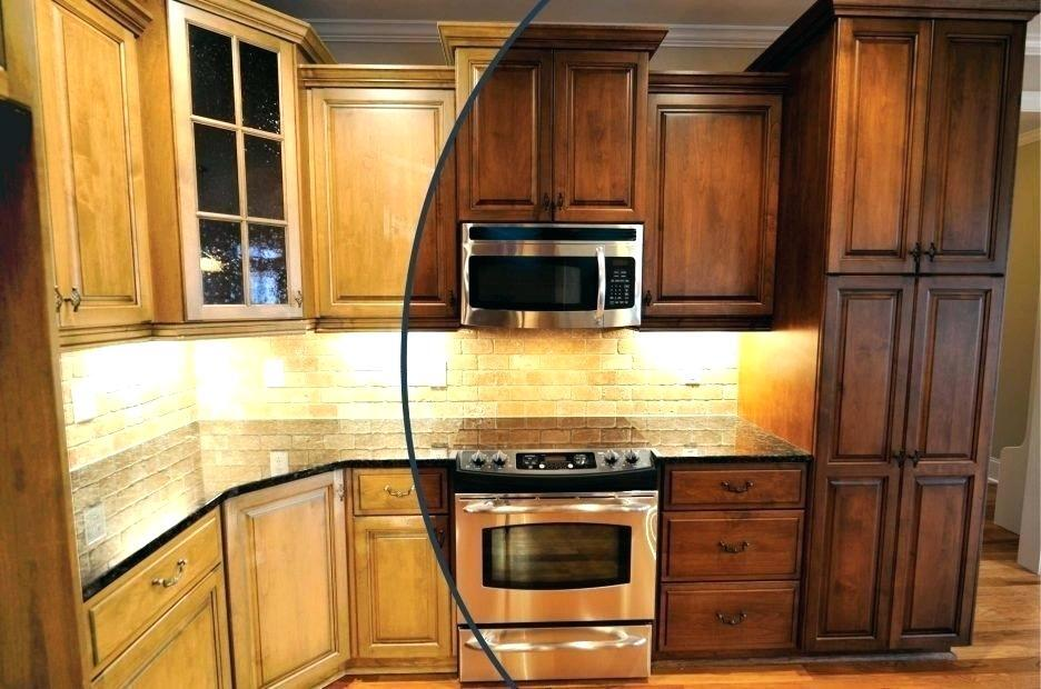 modern contemporary restaining kitchen cabinets cost
