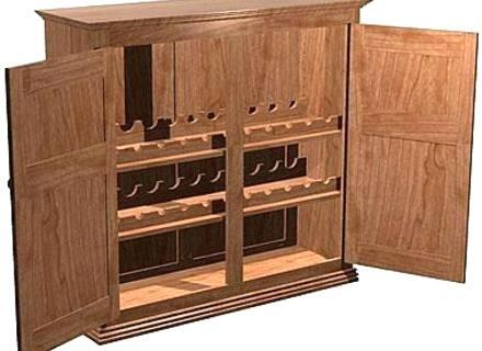 out of the ordinary liquor cabinet building plans