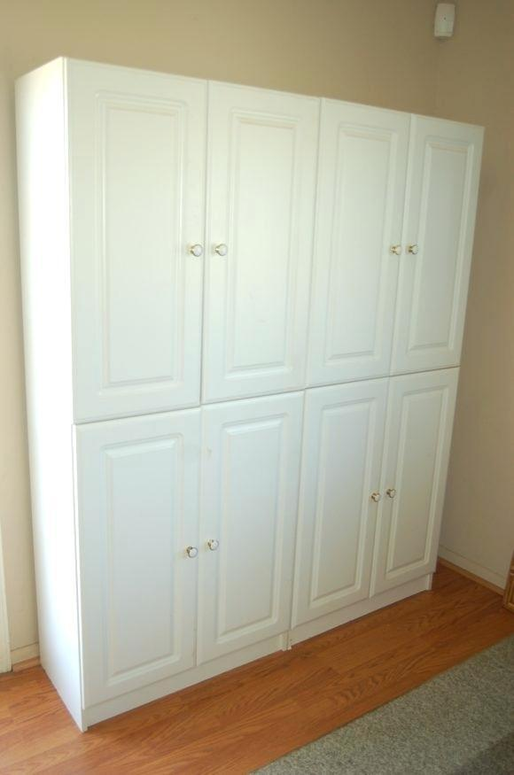 small spaces storage cabinets with doors home depot
