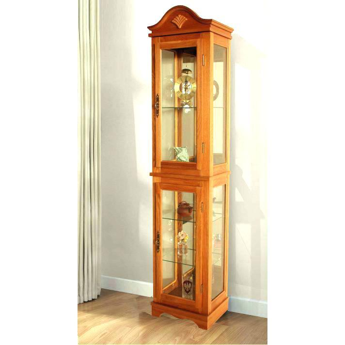 dream corner curio cabinets with glass doors